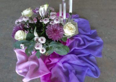 Mauve and Pink Centrepiece